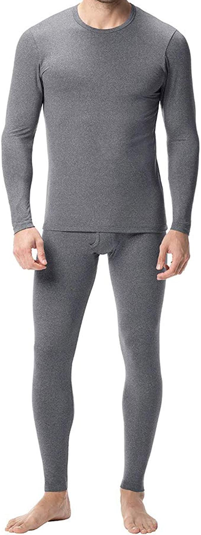 Men/'s Cotton Fleece Thermal Pajama 2 Piece Set Sizes M-2XL New