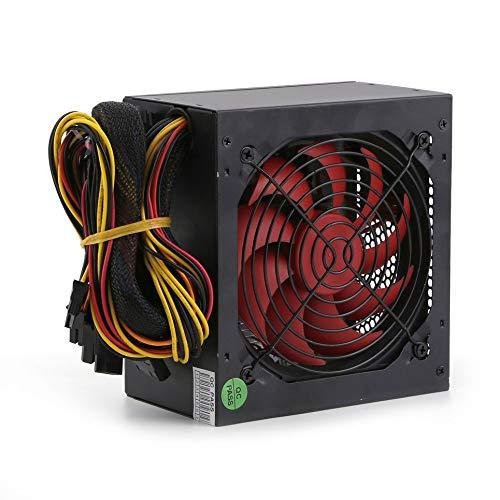 Simoner Desktop Computer PC Modular Power Supply, 650W 110V SATA PCIe w/120mm Single Quiet Cooling Fan