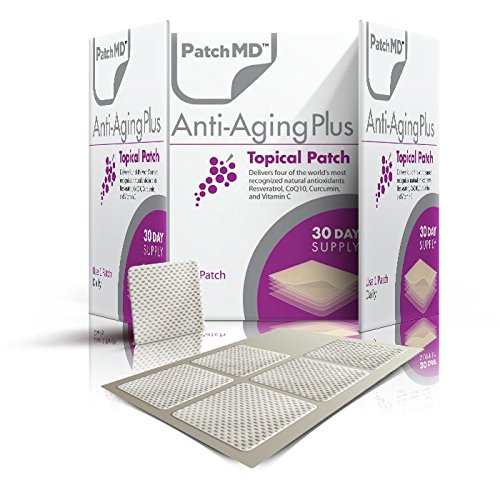 Anti Aging Topical Patches Pack By PatchMD Effective Ingredients Complex Features Antioxidant & Nourishing Properties Rejuvenating Resveratrol & Vitamins Easy To Use Supplement 30 Day Supply