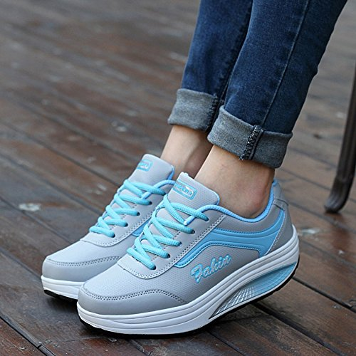 Sneakers Jogging For Women Winter Shoes Women's blue Sport Women Keep Heighten Outdoor Warm Shoes FITRUNSHOE UK6 Comfortable Running q7tw6xtZ