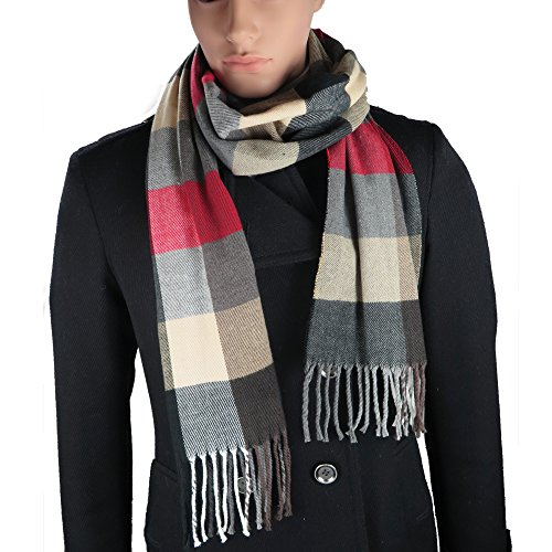 Cashmere-Feel Acrylic Winter Scarf For Men And Women In 8 Plaid Prints By  Debra 8a7bcaf6d1ab