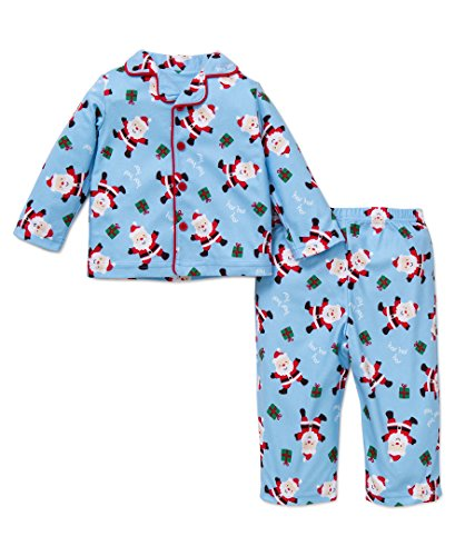 Little Me Boys' Holiday Santa 2 Piece Fleece