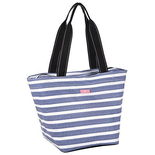 SCOUT Daytripper Everyday Tote Bag, Shoulder Bag, Water Resistant, Wipes Clean, Zips Closed, Oxford Blues