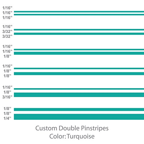 (1060 Graphics Double Vinyl Pinstripes/Pinstriping (Turquoise) 1/8