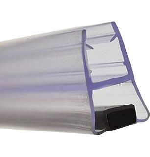 Sellos de ducha verticales que se venden en pares, se utilizan en pantallas o puertas, 15 o 25 mm, aletas traseras para cristal de 4 a 6 mm, 2 metros de largo,