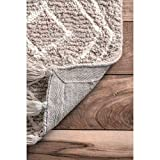 nuLOOM Layla Moroccan Diamond Tassel Wool Rug, 6' x