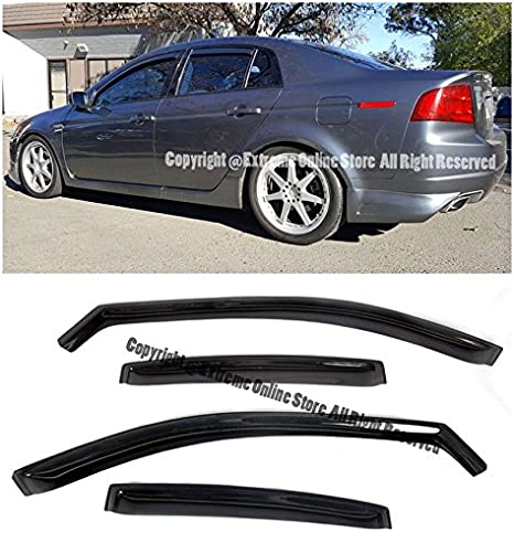 Amazoncom For Acura TL INCHANNEL Style Smoke Tinted JDM - Acura tl window visors