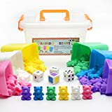Counting Bears With Matching/Sorting Cups, 4 Dice And An Activity e-Book. For Toddlers And Early Childhood Education. 70 pc Game Set In Pastel Colors.