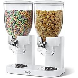 Zevro Dual Dry food Dispenser, White