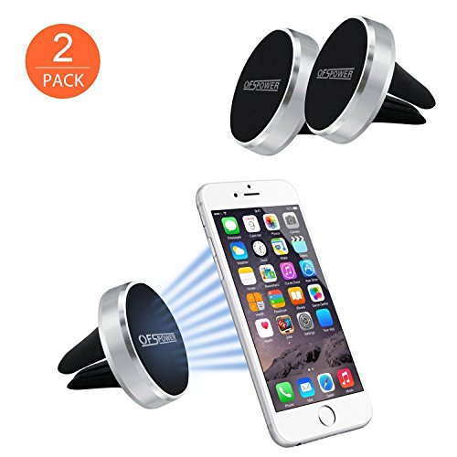Price comparison product image Magnetic Car Mount, OfsPower 2Pack Universal Magnetic Air Vent Car Mount Phone Holder for iPhone / Samsung / GPS Device and More