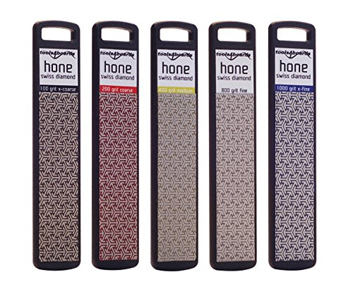 (Tools4Boards Hone Fiver Complete Diamond Stone Set (5 Piece), Black)