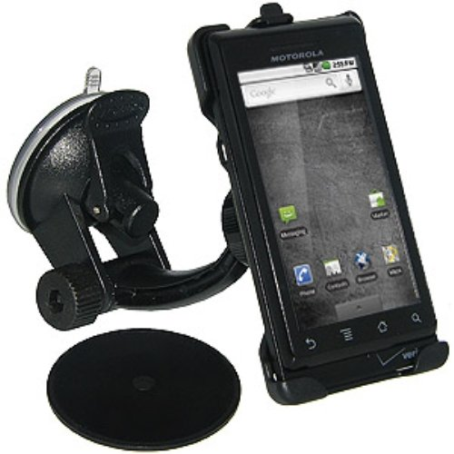 Amzer Windshield, Dash and Console Suction Cup Car Mount for Motorola Droid A855 - (Amzer Suction Cup)
