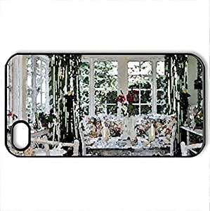 A Sunny Sunporch - Case Cover for iPhone 4 and 4s (Houses Series, Watercolor style, Black)