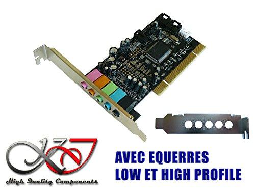 Kalea Informatique Soundkarte pci- Dolby 5.1-equerres Low und High Profile fourniessta, Seven, 8, 8.1, 10-Linux-Rücken