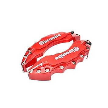 KKmoon 2pcs Pinza de freno Covers Kit de camión de plástico ABS 3d rojo útil Disco