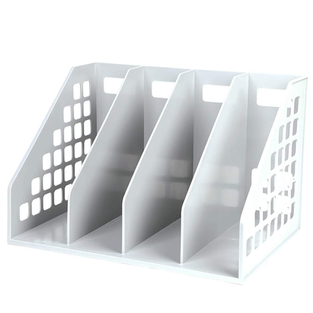Quad-File Box Office File-Aufbewahrungsbox Desktop-Dateihalter (Blau, Weiß, Schwarz) (Farbe   Weiß) B07MQPWPH4 | Angemessener Preis