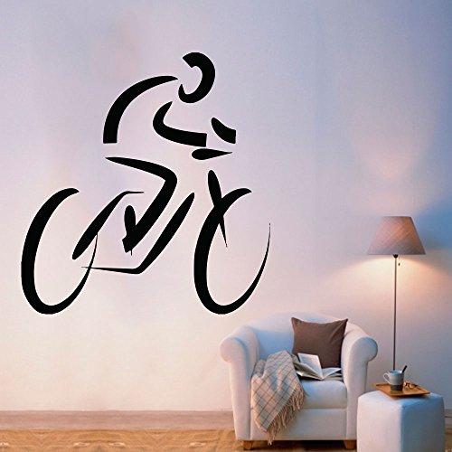 Adesivo de Parede Ciclismo Moutain Bike - P 15x15cm