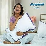 Sleepwell Cloud Microfiber Pillow, 27 x 17, White