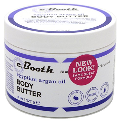 - C.Booth Egyptian Argan Oil Body Butter 8 Ounce Jar (235ml) (3 Pack)