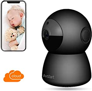 WiFi Home Security Camera HD 1080P Baby Monitor, Wireless Security Surveillance with Night Vision Activity Detection Alert for Baby/Pets, Remote Security Camera System Indoor