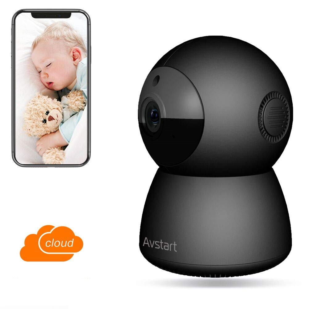 WiFi Home Security Camera 1080P Wireless HD IP Camera Security Surveillance with Night Vision Activity Detection Alert Monitor for Baby/Pets, Remote Monitor with Android/iOS App -Cloud Service