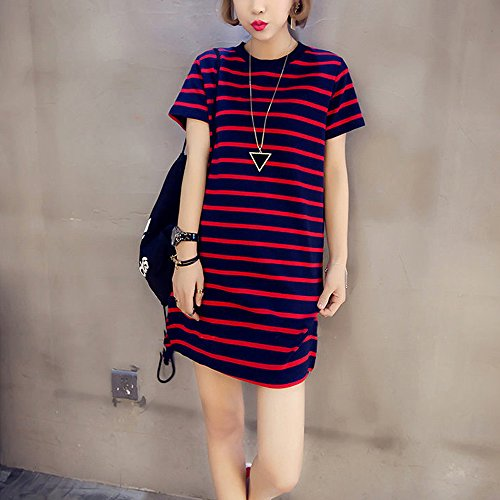 Maternity Dress Sleeve XFentech Fashion Short Wrap Women's Causual Striped Dresses Red OxxIt0