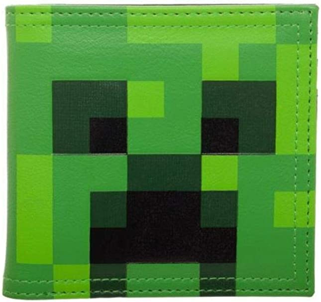 Amazon.com: Minecraft Creeper - Cartera plegable (piel ...