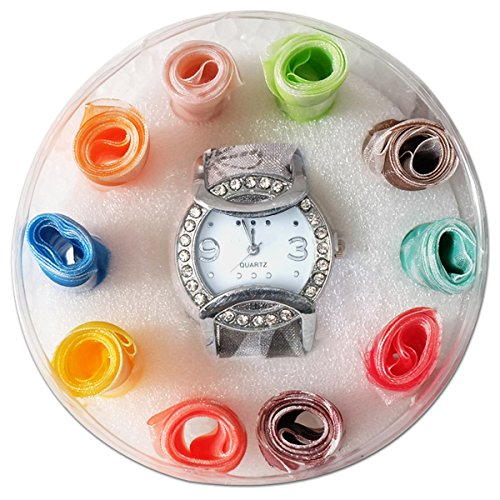 Super Drool Designer Watch with Changeable Ribbon Strap