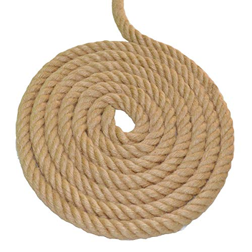 Twisted Manila Rope Jute Rope 100 Feet Natural Thick Hemp Rope for Crafts, Nautical, Landscaping, Railings, Hanging Swing(1 Inch Diameter) by YuzeNet (Image #3)