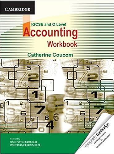 Accounting Workbook IGCSE O Level Catherine Coucom
