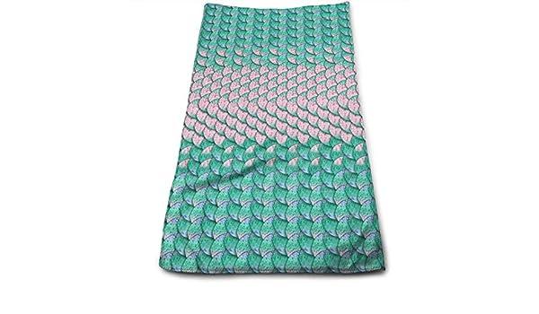 Hoklcvd Mermaid Scales Background Microfiber Towel Luxury ...