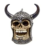 The Skull with Horned Armor Daimer: The Celtic Skull Warrior Sculpture
