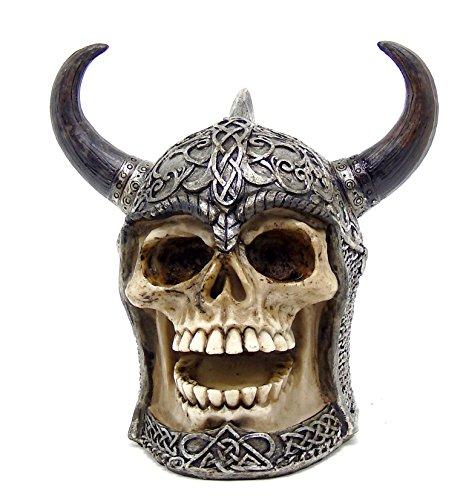 The Skull with Horned Armor Daimer: The Celtic Skull Warrior Sculpture (Celtic Warrior Knot)