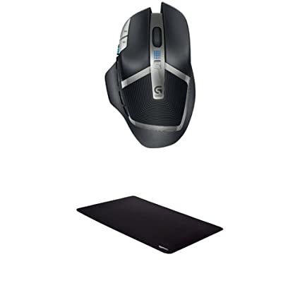 Logitech G602 Lag-Free Wireless Gaming Mouse and AmazonBasics Extended  Gaming Mouse Pad
