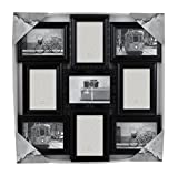 "Azzure Home ""Victorian"" 9 Openings Decorative Wall Hanging Collage Picture Frame - Made to Display Four 6x4 and Five 4x6 Photos, Black"