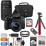 Canon EOS Rebel T6i Wi-Fi Digital SLR Camera & EF-S 18-55mm is STM & 75-300mm III Lens Case & 16GB Card + Tripod + Remote + Filters + Kit