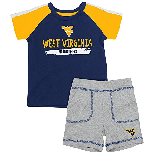 (Colosseum Infant West Virginia Mountaineers Tee Shirt and Shorts Set - 3 to 6 Months)