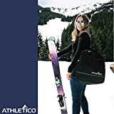 Athletico Padded Two-Piece Ski and Boot Bag Combo | Store & Transport Skis Up to 200 cm and Boots Up to Size 13 | Includes 1 Padded Ski Bag & 1 Padded Ski Boot Bag