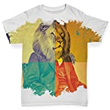 Twisted Envy Baby Toddler The King Lion ALL-OVER PRINT Baby T-shirt 6 - 12 Months White