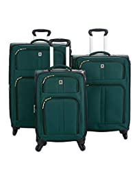 Delsey Amherst Luggage Green 3-Piece Spinner Trolley Set