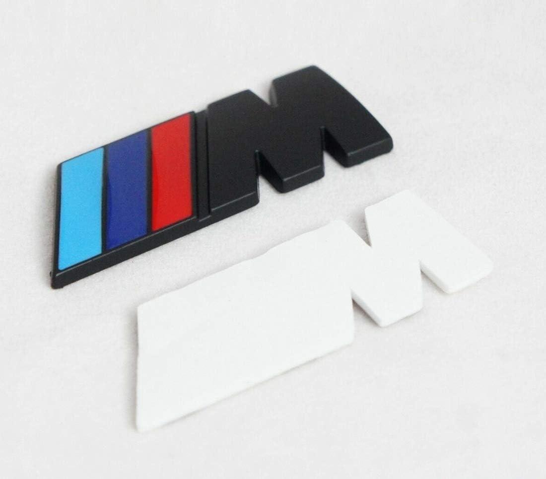 TANGUST 1 Pieces Zinc Alloy Materials //////M Emblem Premium Car Side Fender Rear Trunk Nameplate Emblem Badge Decals Sticker Silver