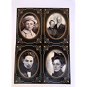 Spooky Haunted Photo Frames 4pk Lenticular Effect