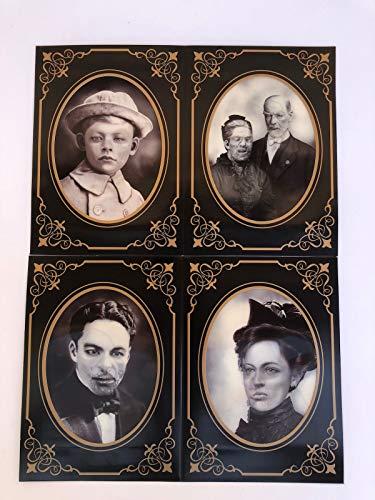 Spooky Haunted Photo Frames 4pk Lenticular Effect