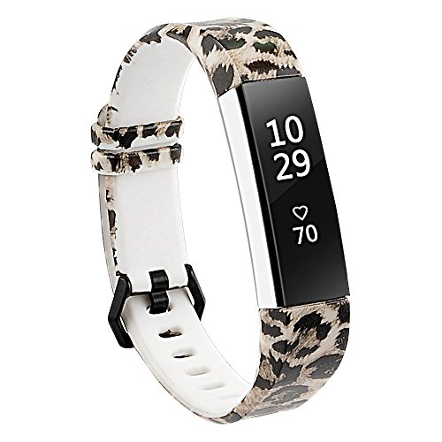 Leopard Wristband (RedTaro Bands for Fitbit Alta and Fitbit Alta HR,Leopard,Standard Size for 5.5