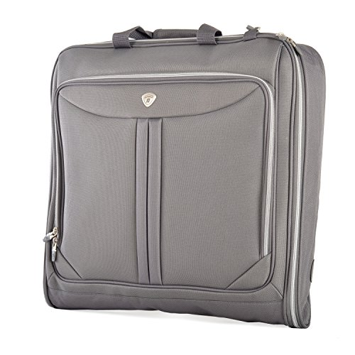 Olympia Deluxe Garment Bag, Gray, One Size