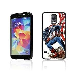SuperHero Captain America image Custom Samsung Galaxy S5 i9600 Individualized Hard Case