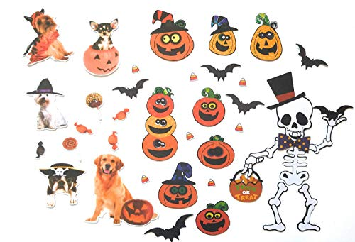 Holiday Magnet Set for Your Refrigerator Car Mailbox Locker Classroom Decoration (Halloween) -