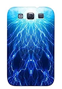 New Blue Lightning Tpu Case Cover, Anti-scratch Honeyhoney Phone Case For Galaxy S3
