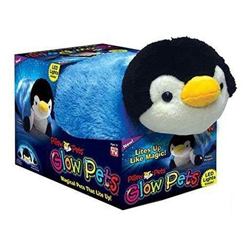 Pillow Pets Glow Pets Penguin, 12 Inches