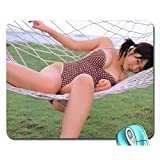 Women Asians Swimsuits One Piece Clothing Mouse Pad(10.2 x 8.3 x 0.12 inches)